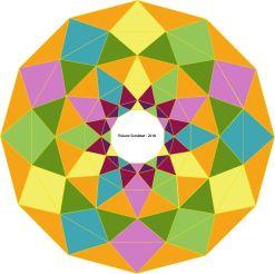 Crob Circle revisité par illustrator évoquant à mon avis la roue zodiacale
