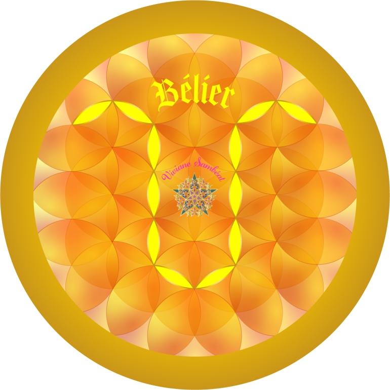 Signe Astro Fleur de vie Bélier