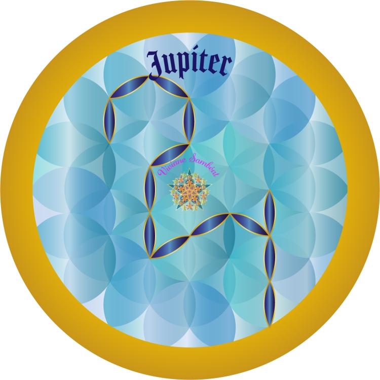 Signe Astro Fleur de vie Jupiter