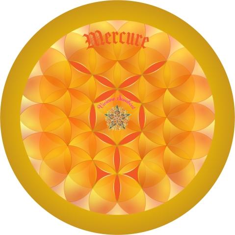 Signe Astro Fleur de vie Mercure