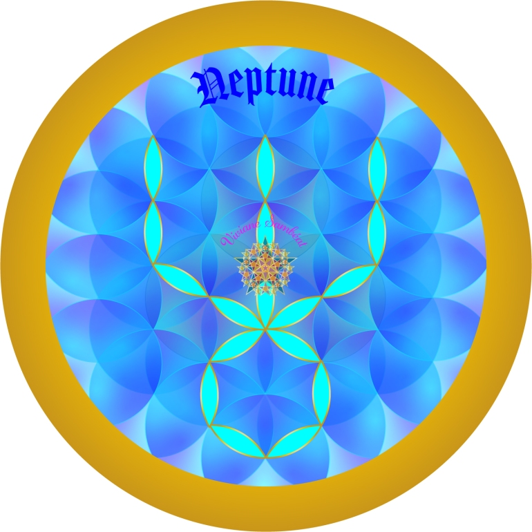 Signe Astro Fleur de vie Neptune