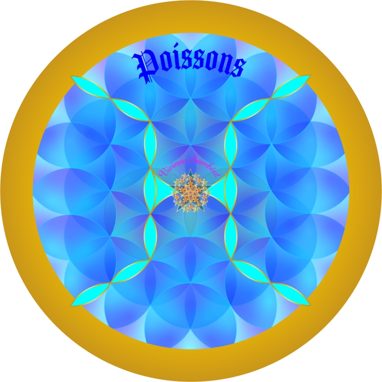 Signe Astro Fleur de vie Poissons