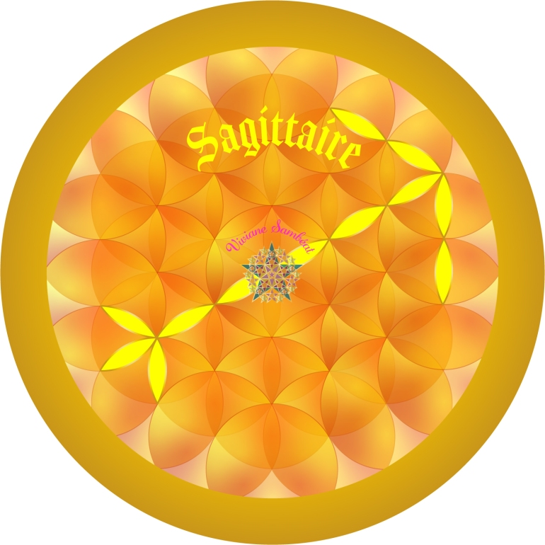 Signe Astro Fleur de vie Sagittaire