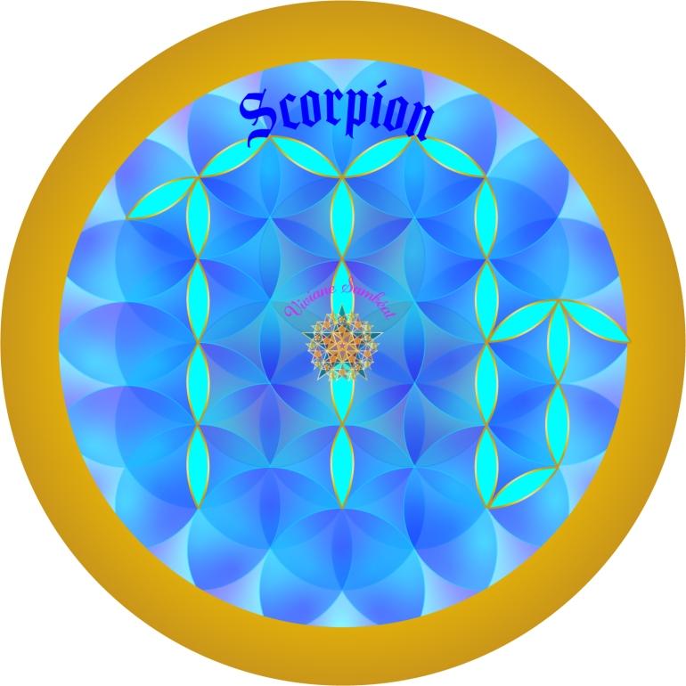 Signe Astro Fleur de vie Scorpion