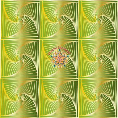 Zentangle Spirale Or et Péridot 3 cm