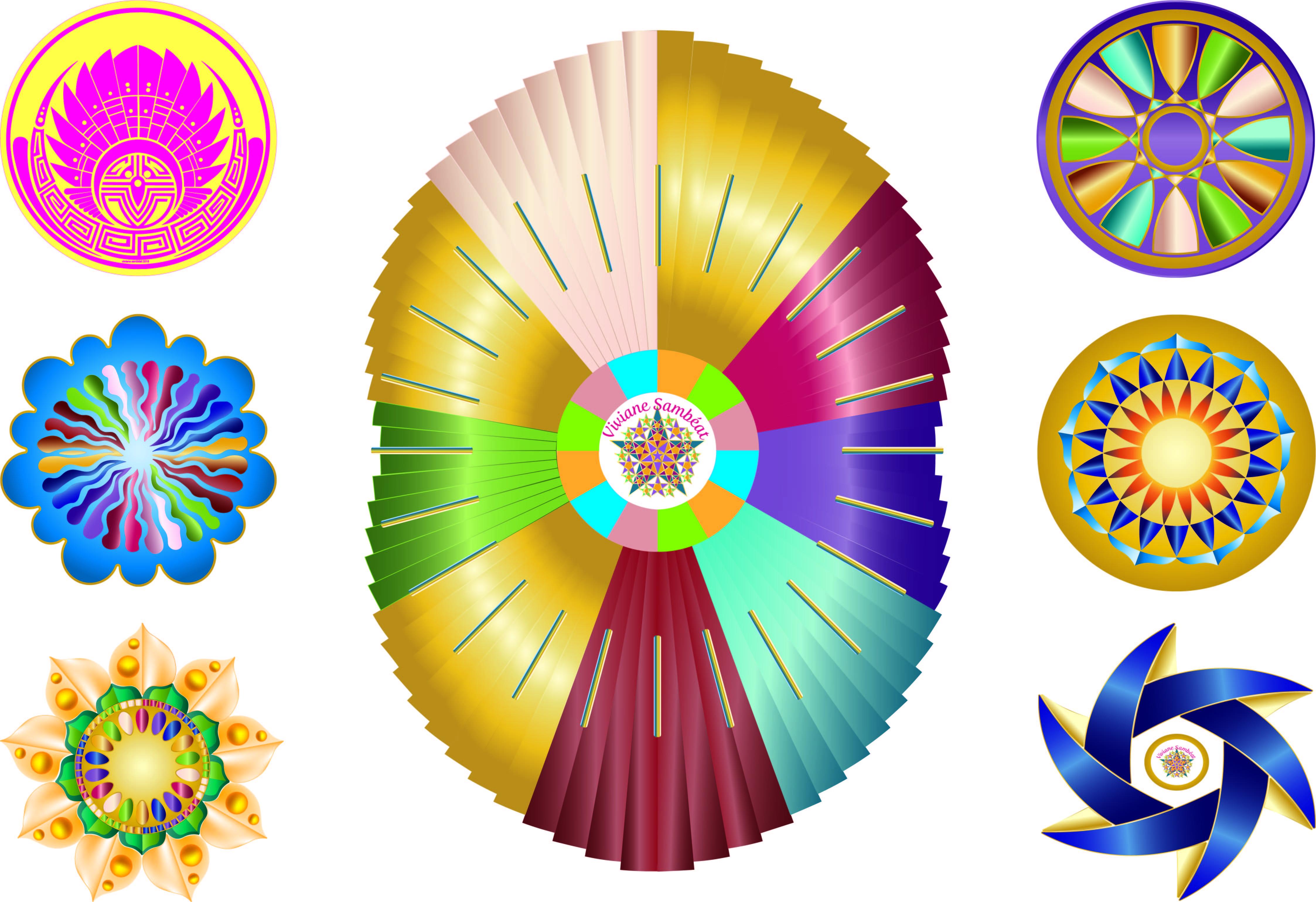 MARCHES DES ARTS Horloge Anges Crop Mandala