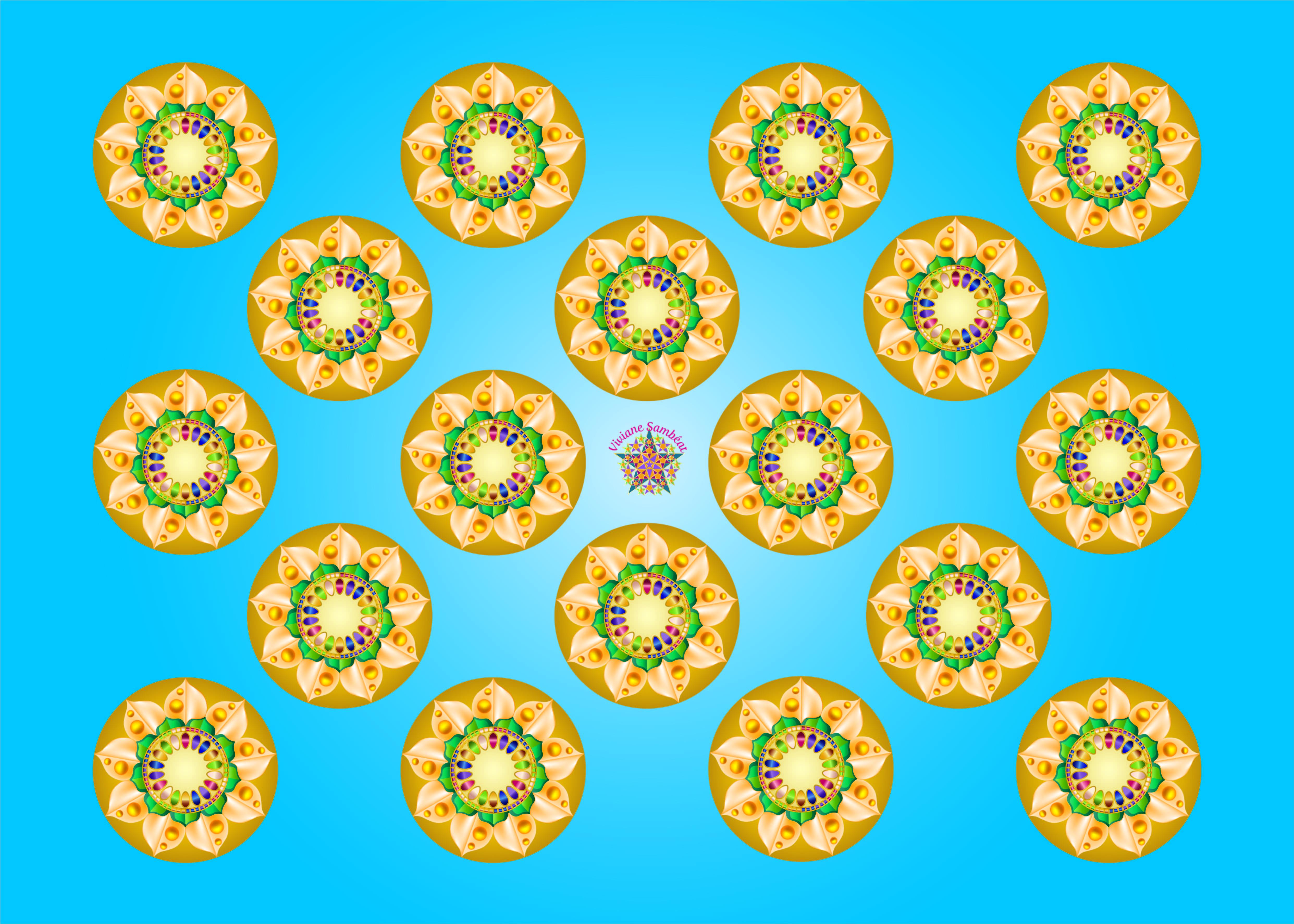 MARCHES DES ARTS Mandala 1 répété